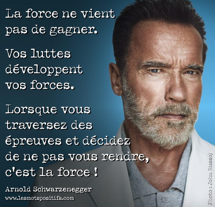 Citation 22 citations d'Arnold Schwarzenegger pour avoir une mentalité de gagnant et atteindre les sommets