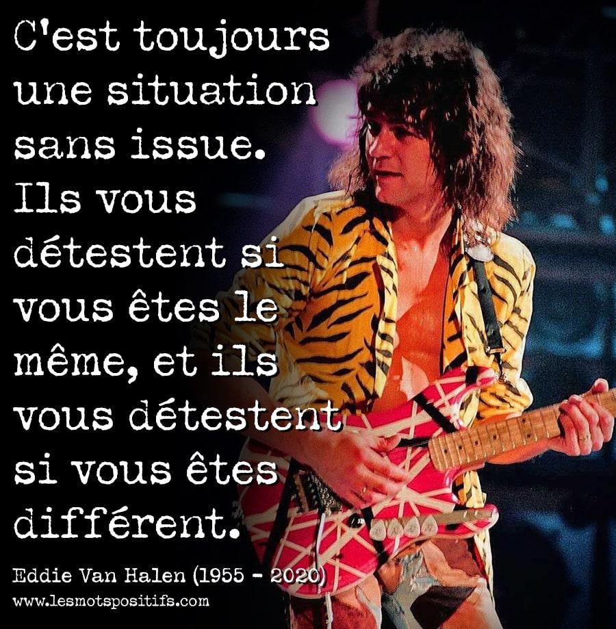 Citation 14 citations en hommage à Eddie Van Halen, un des meilleurs guitaristes au monde