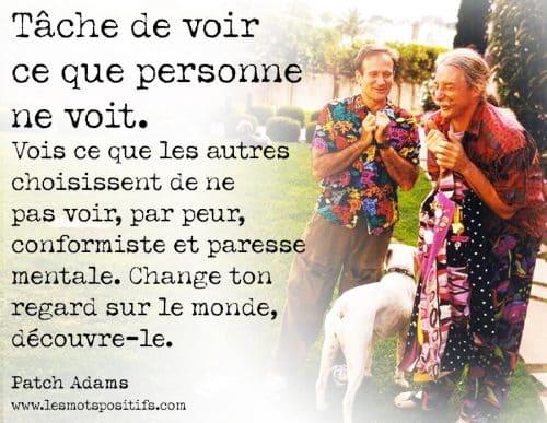 15 citations de Patch Adams pour voir ce que personne ne voit